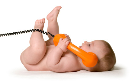 Babys-first-phone-call