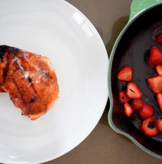 Cinnamon Paprika Crusted Chicken and Balsamic Roasted Strawberries-016