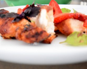 Cinnamon Paprika Crusted Chicken and Balsamic Roasted Strawberries-019
