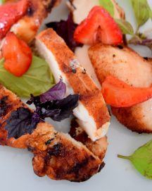 Cinnamon Paprika Crusted Chicken and Balsamic Roasted Strawberries-021