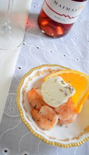 Grilled Shrimp with Cardamom Orange Lavender Cream