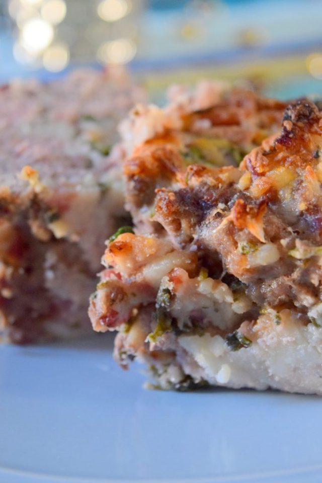 Italian Bacon Meatloaf-015