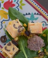 Green Chili Meatballs with Polenta Croutons-008
