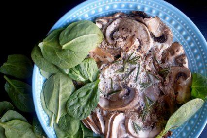 Pomegranate Rosemary Mushroom Fritatta-010