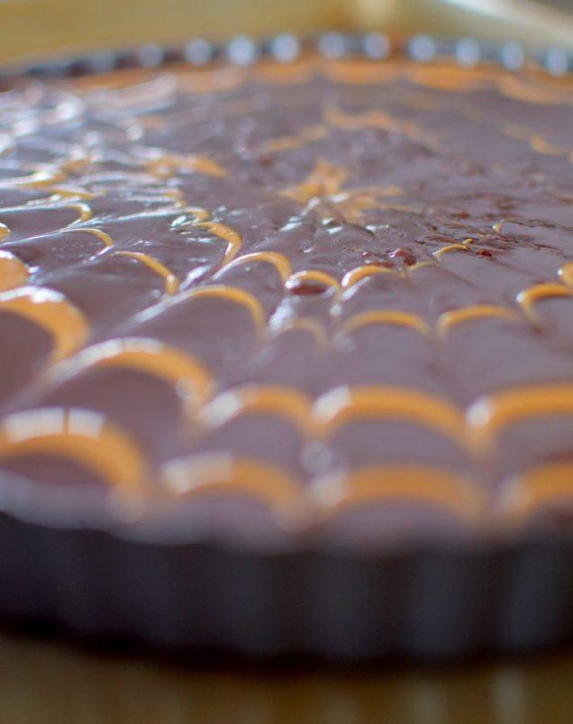 Chocolate Peanut Butter Pretzel Tart-012