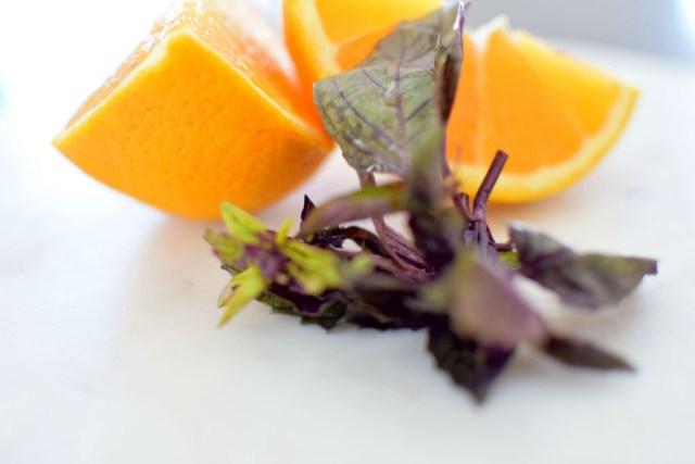 Orange Basil Sweet Potatoes and Pork