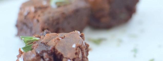 Salted Rosemary Dark Chocolate Brownies-011