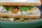 Chevre, Avocado, & Salted Honey Cantaloupe Jam Grilled Cheese-005
