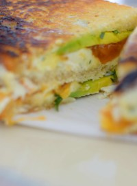 Chevre, Avocado, & Salted Honey Cantaloupe Jam Grilled Cheese-011