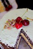 Rustic Pistachio Choclolate Vanilla Layer Cake-022