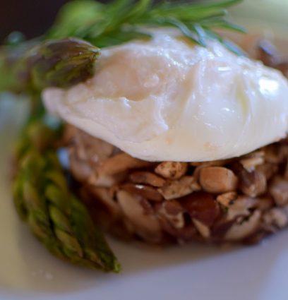 Wild Mushroom Asparagus Poached Egg-007