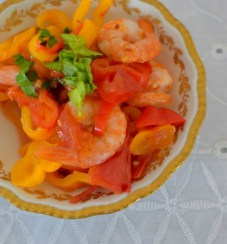 Spicy Lemon Tomato Broth Poached Shrimp-010