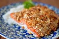Peanut Horseradish Macadamia Crusted Salmon-008