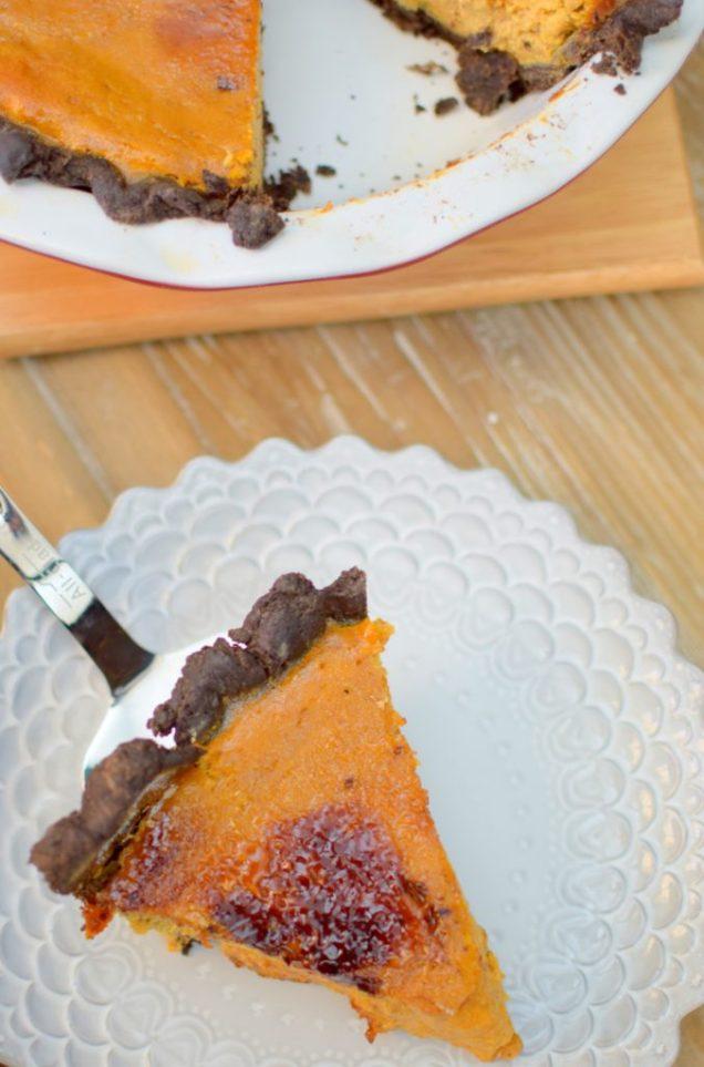 Maple Pumpkin Chocolate Bruleed Pie-029