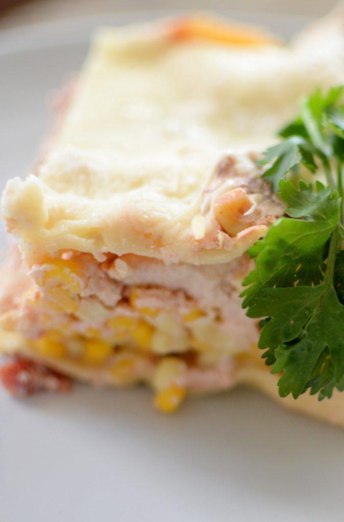 Spicy Chicken Mexican Lasagna-009