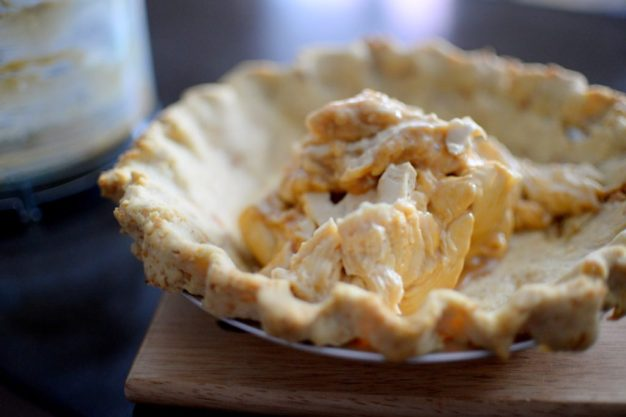 Salted Caramel Pear Cream Pie-003