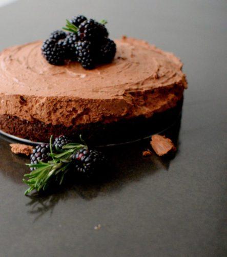 Triple Chocolate Blackberry Rosemary Silk Cake-015