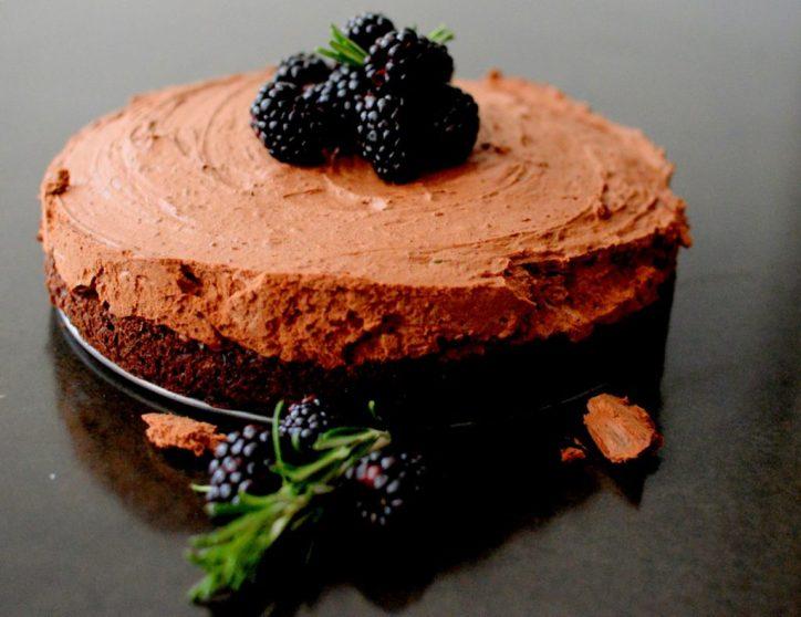 Triple Chocolate Blackberry Rosemary Silk Cake-016