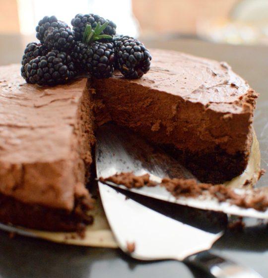 Triple Chocolate Blackberry Rosemary Silk Cake-019