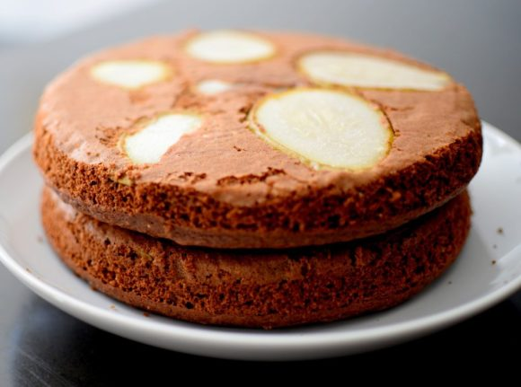 Espresso Chocolate Pear Cardamom Cake-012