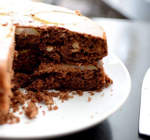 Espresso Chocolate Pear Cardamom Cake-014