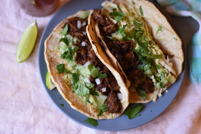 Chile Braised Pork Tacos | Cravings & Crumbs