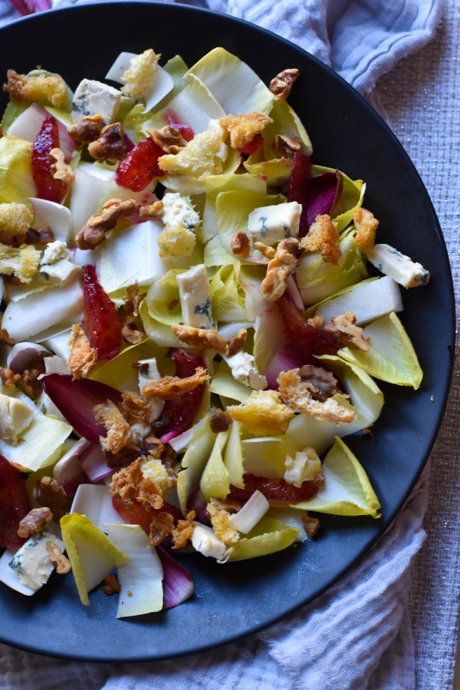 Endive Salad with Sherry-Fig Vinaigrette | Cravings & Crumbs