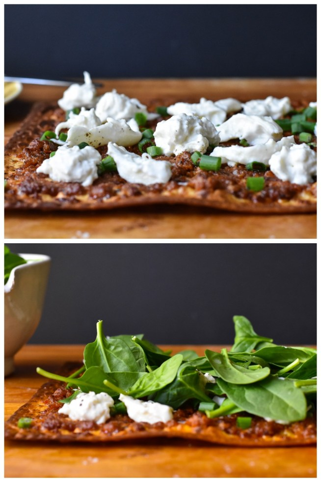 Nduja and Burrata Flatbread | Cravings & Crumbs