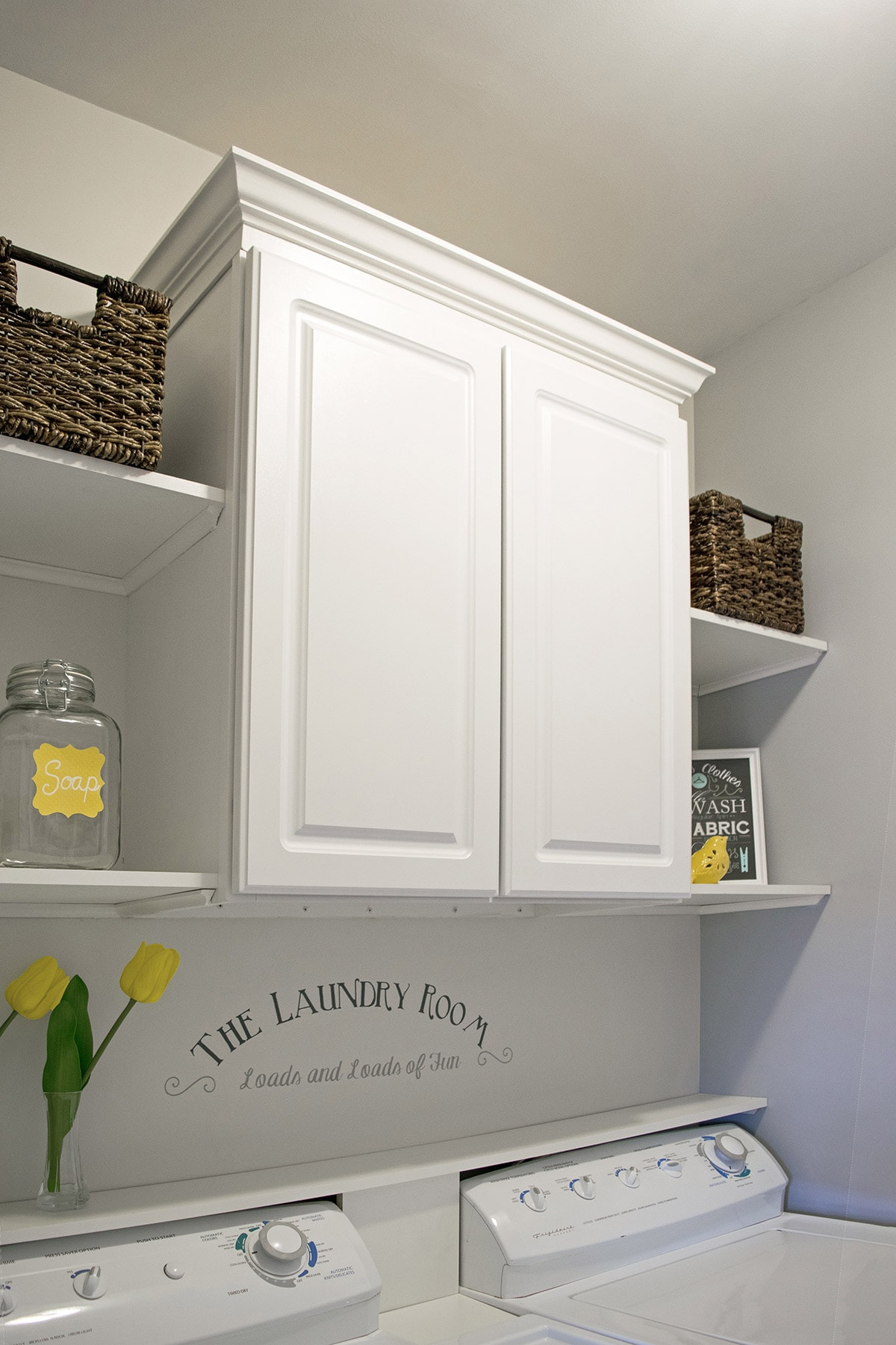 Budget Laundry Room Makeover Reveal - Craving Some Creativity on Small Laundry Room Cabinets  id=93600