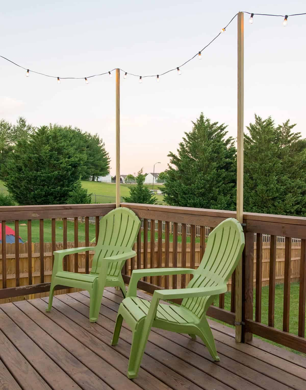 Outdoor Deck String Lights for Fun Summer Nights - Craving ... on Backyard String Lights Diy id=62459