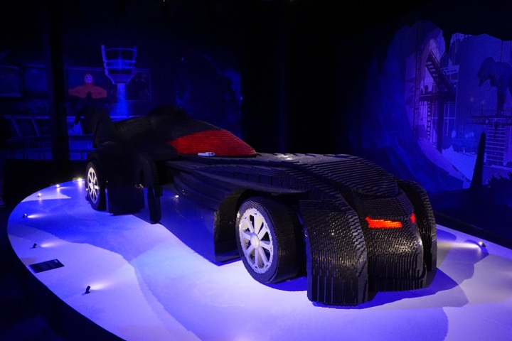 Yes, this Batmobile was life-size. Clearly, it was the pinnacle of the exhibit.