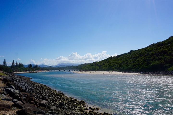 Tallebudgera Creek: our favorite place to swim at the Gold Coast.
