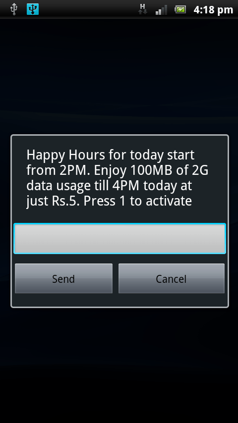 vodafone happy hours