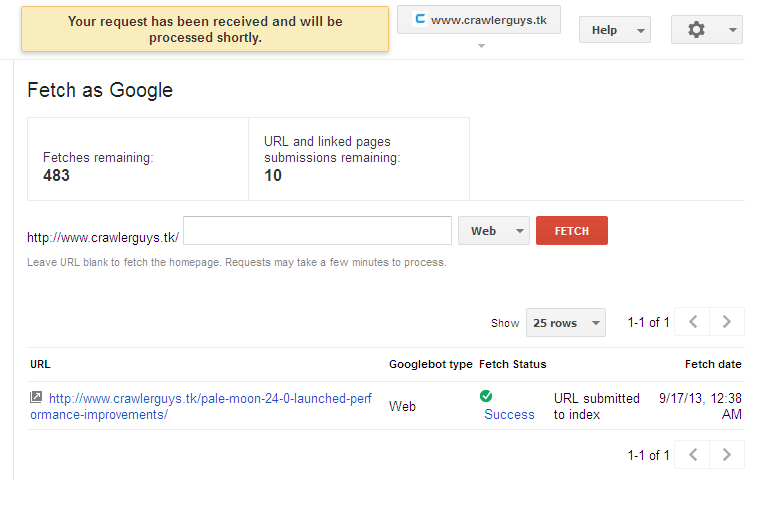 google indexing 7