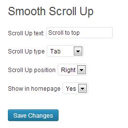 Smooth scroll up