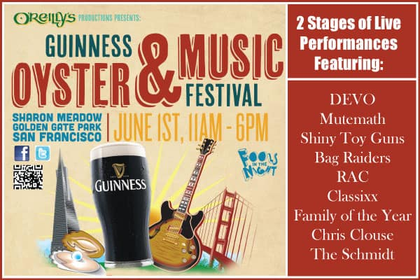 Oysterfest Oyster and Music Festival Oreillys san francisco tickets