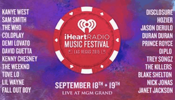 iheartradio 2015 lineup and set times las vegas tickets