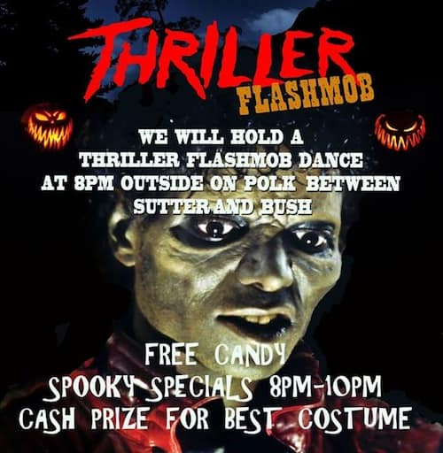 San Francisco Halloween Pub Crawl Thriller Flash Mob