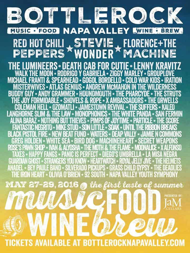 BottleRock Napa 2016 Lineup Announcement