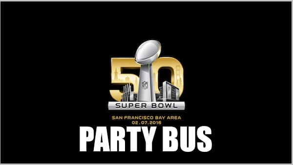 Super Bowl 50 Party Bus