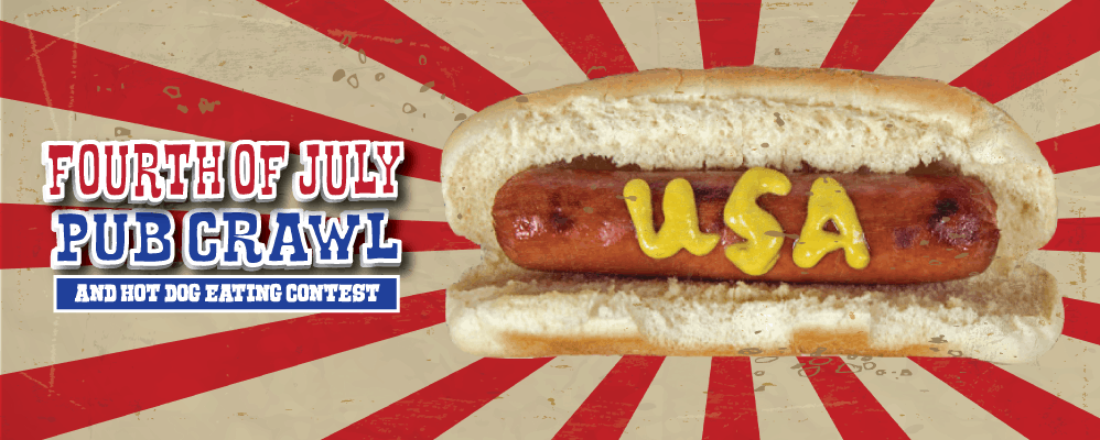 Fourth Of July Pub Crawl and Hot Dog Eating Contest
