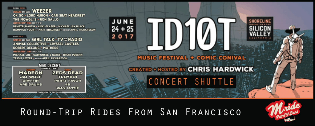 San Francisco Party Bus to the ID10T Festival (Sunday)