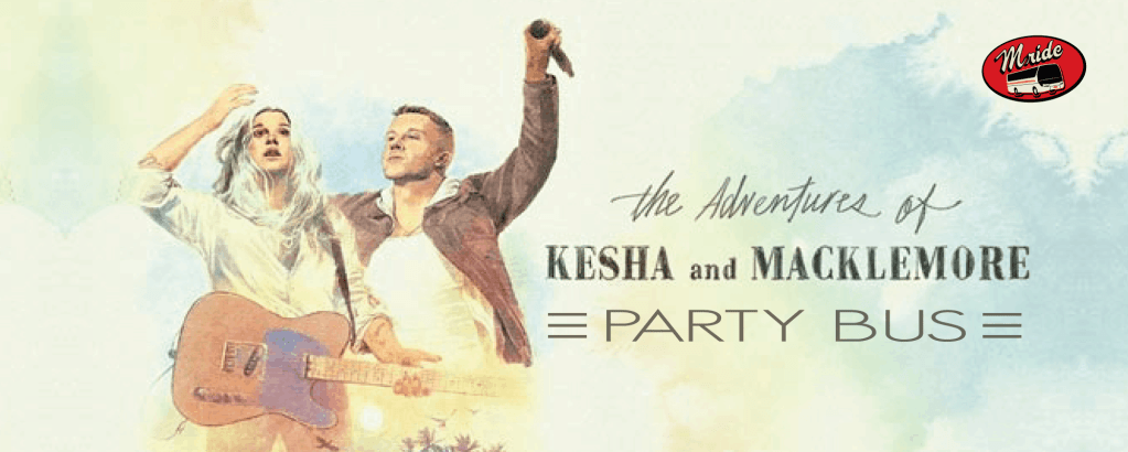 Macklemore and Kesha at Shoreline Amphitheater – Party Bus