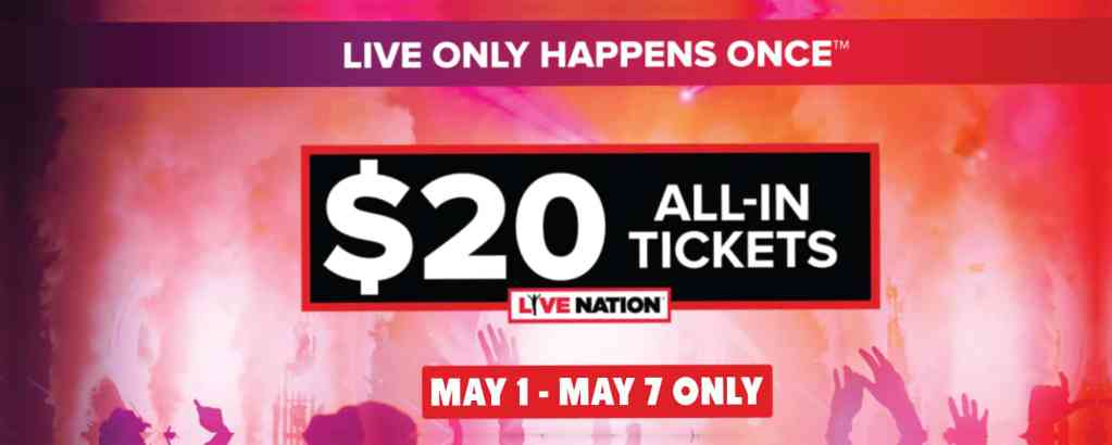 Live Nation $20 Ticket Sale to Bay Area Concerts