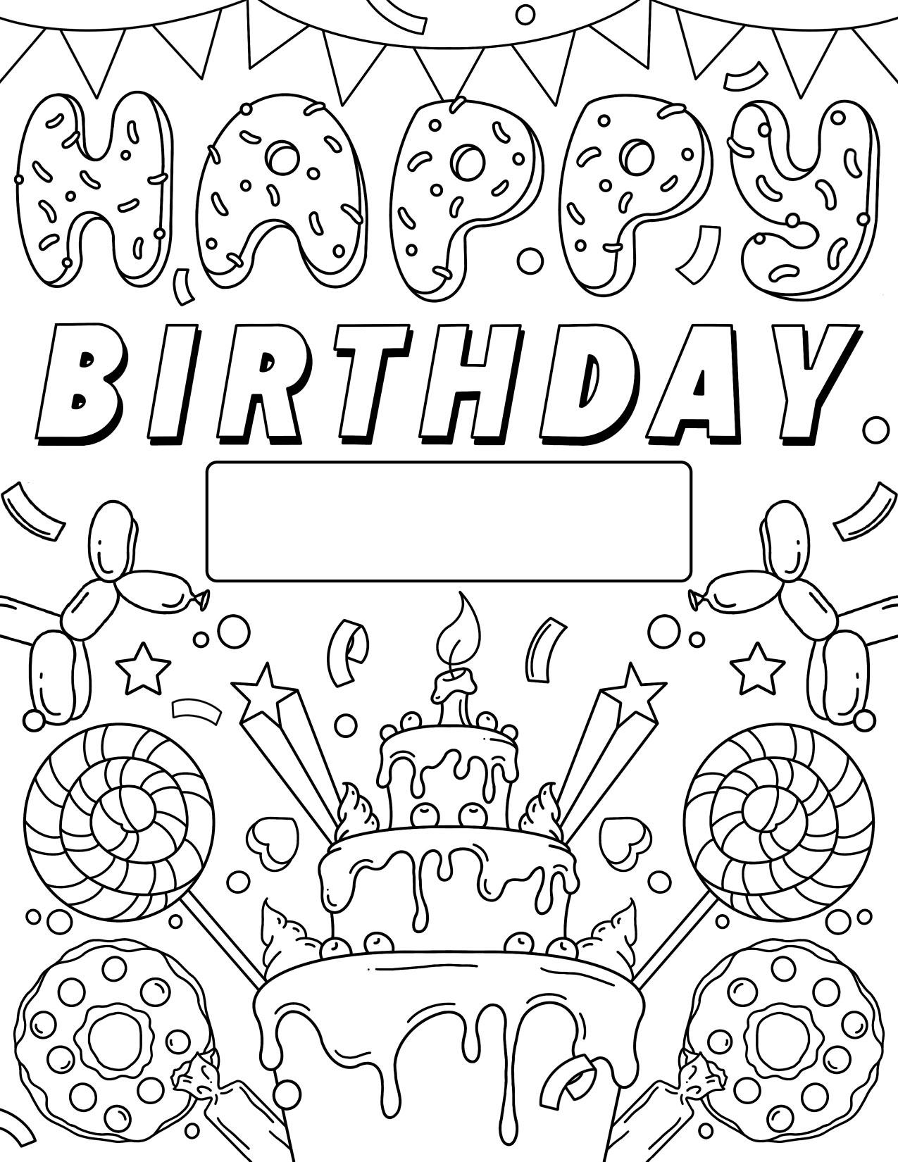 Happy Birthday Sign Crayola Com