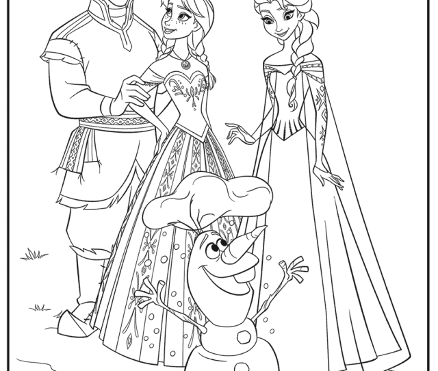 Anna Elsa Olaf Frozen  Free Coloring Pages Crayola Com