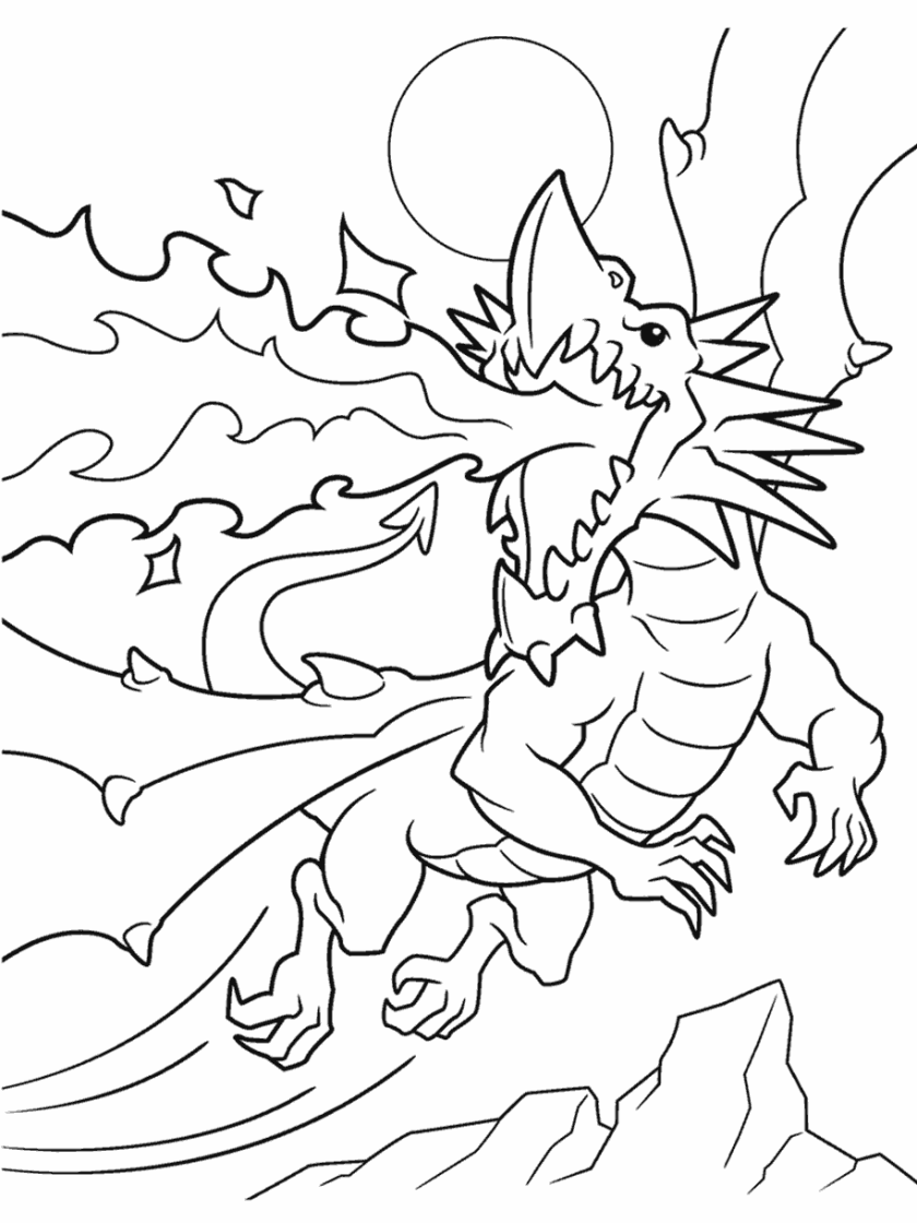 firebreathing dragon coloring page  crayola
