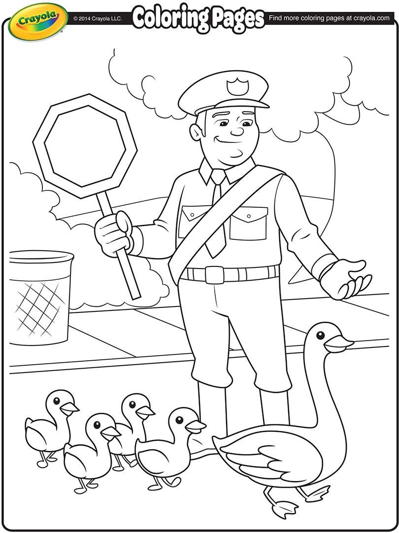Traffic Cop Coloring Page Crayola Com