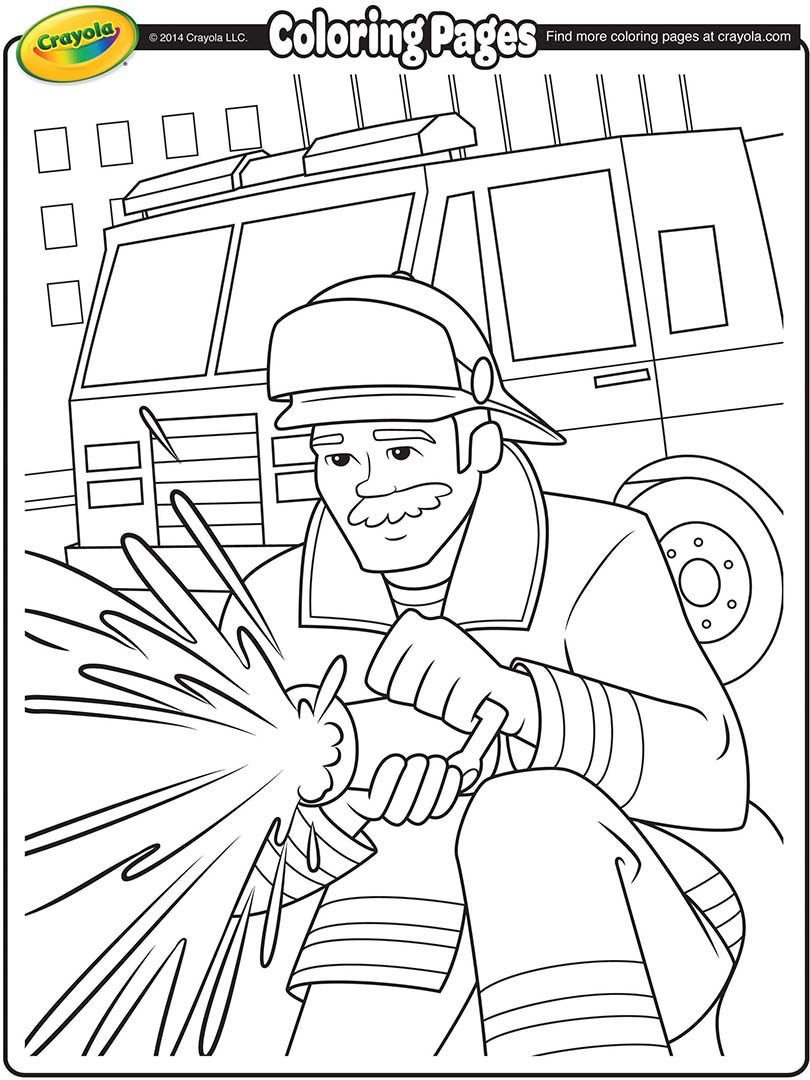 Firefighter Coloring Page Crayola Com