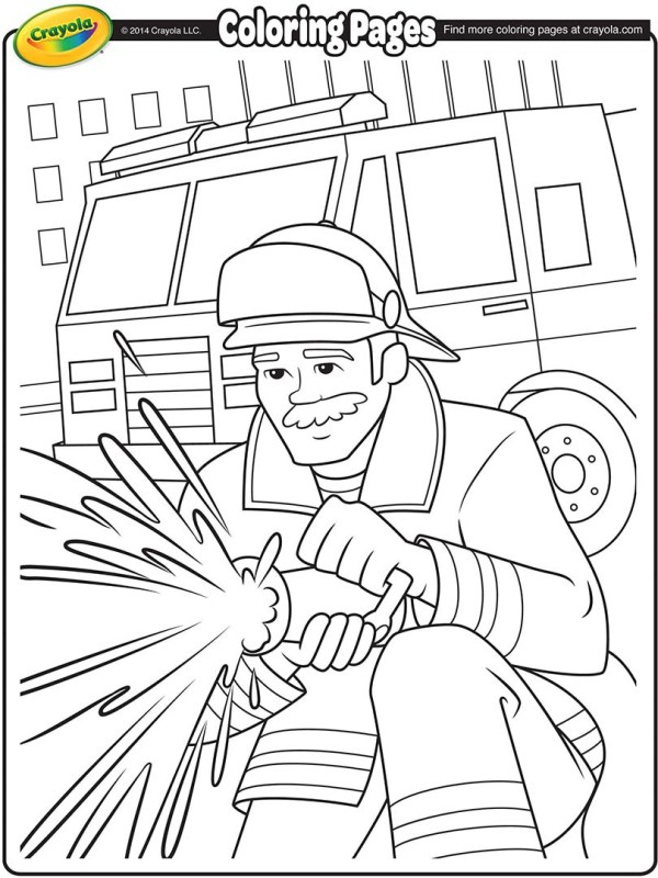 fireman coloring page # 8